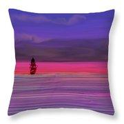 Twilight Between Sunset And Night Throw Pillow