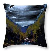 Twilight Canyon Eclipse Throw Pillow