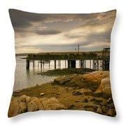 Twilight Cape Porpoise Maine Throw Pillow