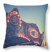 Twilight Carnival Ride Throw Pillow