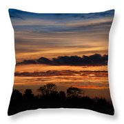 Twilight Colorful Sunset Throw Pillow