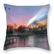 Twilight Colors Throw Pillow