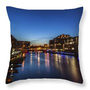 Twilight Docks Throw Pillow