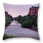 Twilight Drive Throw Pillow