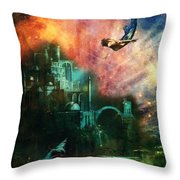 Twilight Grotto Throw Pillow