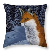 Twilight Hunter Throw Pillow