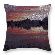 Twilight In Pasco Throw Pillow