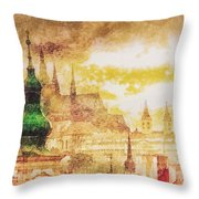 Twilight In Praha Throw Pillow