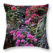Twilight In The Courtyard Throw Pillow
