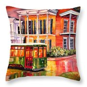 Twilight In The Garden District Throw Pillow