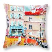 Twilight Montmartre Throw Pillow