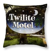 Twilight Motel Throw Pillow