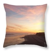Twilight Near Pier Throw Pillow