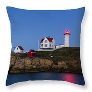 Twilight Nubble Lighthouse Throw Pillow