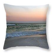 Twilight Ocean Beach Throw Pillow