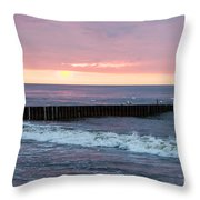Twilight On A Beach Throw Pillow