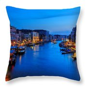 Twilight On The Grand Canal Throw Pillow