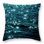 Twilight On The Waters Throw Pillow
