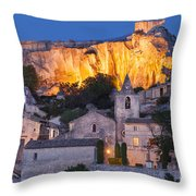 Twilight Over Les Baux Throw Pillow