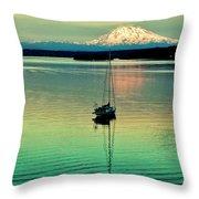 Twilight Sail Throw Pillow