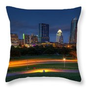 Twilight Skyline Throw Pillow