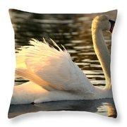 Twilight Swim Throw Pillow
