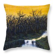 Twilight's Last Breath Throw Pillow by Erik Coryell