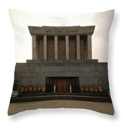 Twilit Ho Chi Minh Mausoleum Throw Pillow