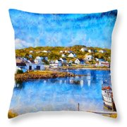 Twillingate In Newfoundland Throw Pillow