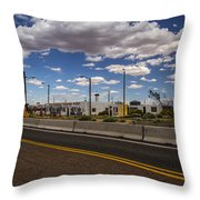 Twin Arrows Trading Post Throw Pillow