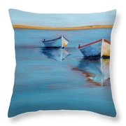 Twin Boats II Throw Pillow