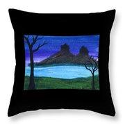 Twin Castles Throw Pillow