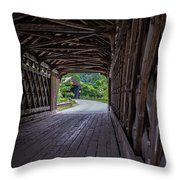 Twin Covered Bridges North Hartland Vermont Throw Pillow