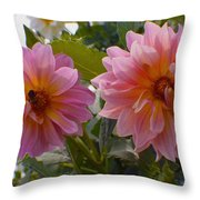 Twin Delight Throw Pillow