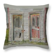 Twin Doors In Watercol Throw Pillow