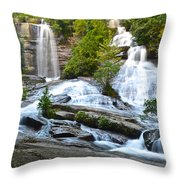 Twin Falls Flows Forth Throw Pillow