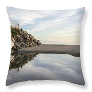 Twin Lakes Beach Throw Pillow
