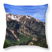 Twin Lakes Colorado Throw Pillow
