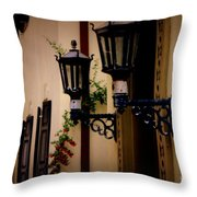 Building Cityscape Twin Lamps Throw Pillow