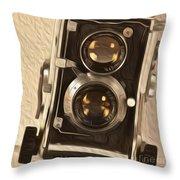 Twin Lens Reflex Redux Throw Pillow