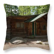 Twin No. 2 Cabin At The Holzwarth Historic Site Throw Pillow
