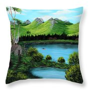 Twin Ponds Throw Pillow