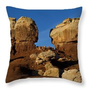 Twin Rocks Capitol Reef National Park Utah Throw Pillow