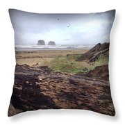 Twin Rocks Throw Pillow