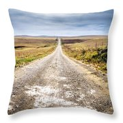 Twin Towers Road Throw Pillow