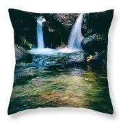 Twin Waterfall Throw Pillow