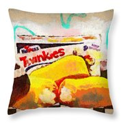 Twinkies Cupcakes Ding Dongs Gone Forever Throw Pillow