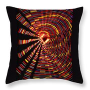 Twirling Under The Christmas Tree Throw Pillow