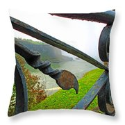 Twirls And Curls Throw Pillow
