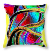 Twist And Shout 3 Throw Pillow